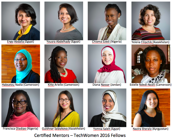 12 Certified Mentors TechWomen 2016 Fellows