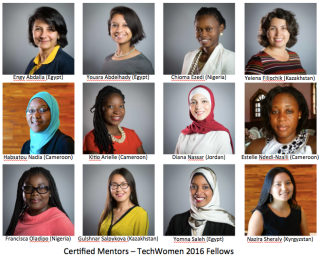 12 Certified Mentors TechWomen 2016 Fellows