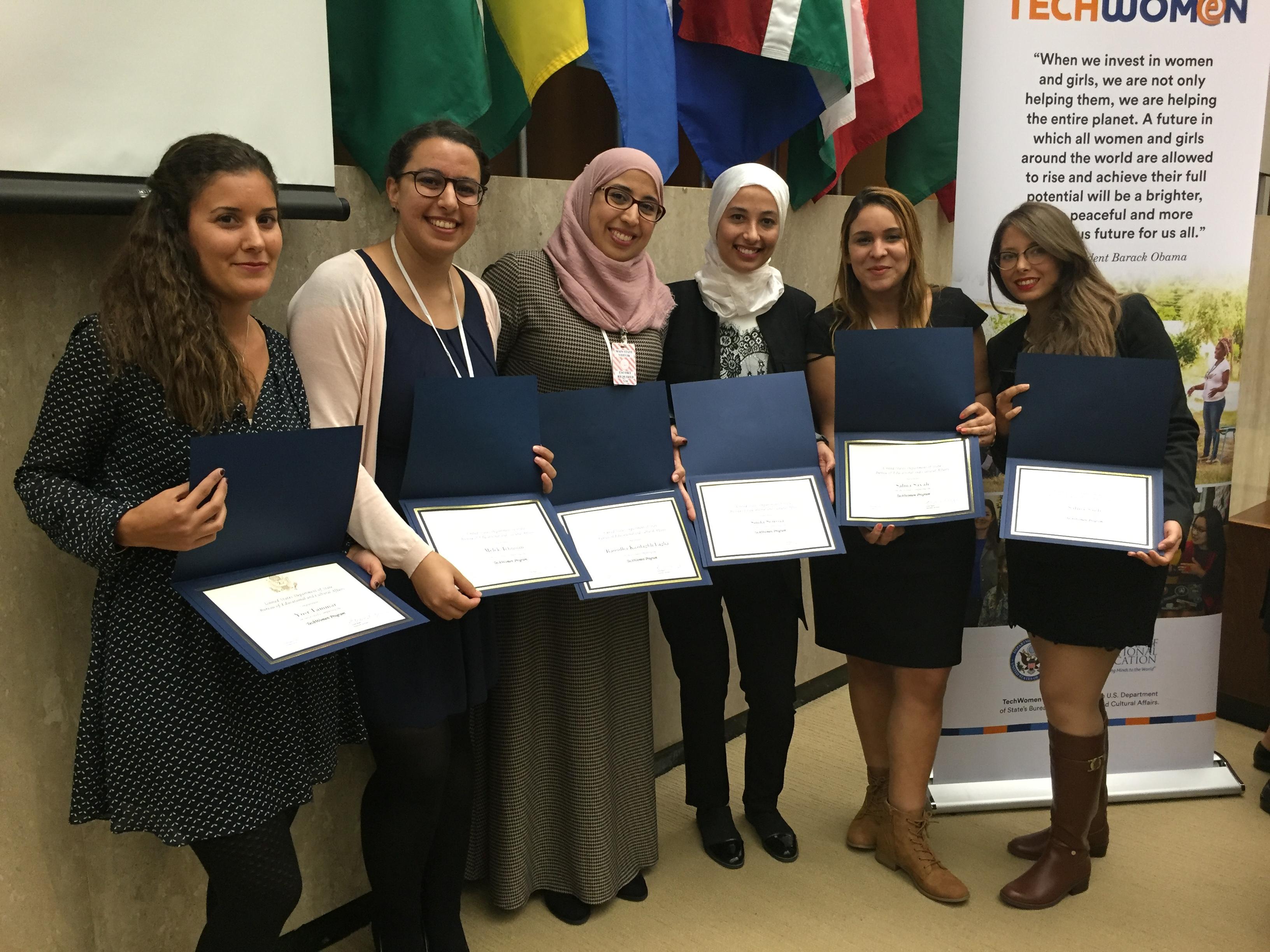 TechWomen Team Tunisia WAKTECH Washington DC, 14 October 2016