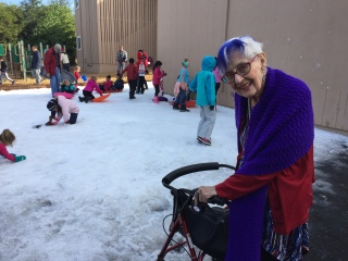 Eleanor Dickinson at St. Andrew's Snow Day, Dec 2016