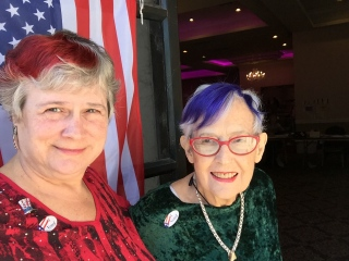 Eleanor and Katy Dickinson, Election Day, Nov 2016