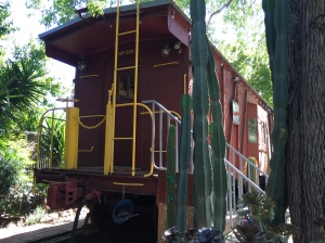 WP668 railroad caboose in San Jose CA September 2016