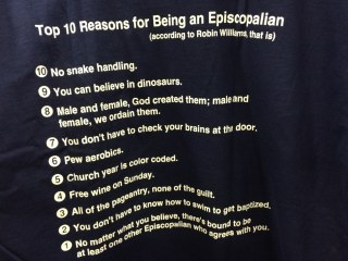 Top 10 Reasons for Being an Episcopalian (according to Robin Williams) 2015