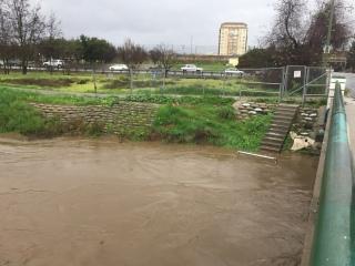 Guadalupe River at Alma/Lelong, San Jose CA 8 Jan 2017