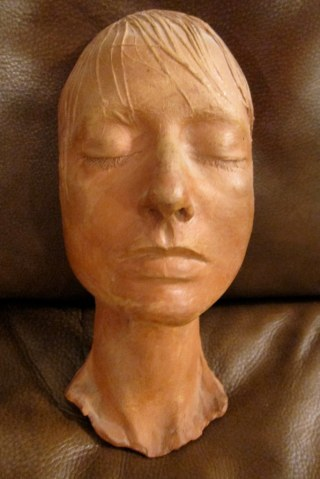 Eleanor Creekmore Dickinson ceramic life mask by Ruth Asawa