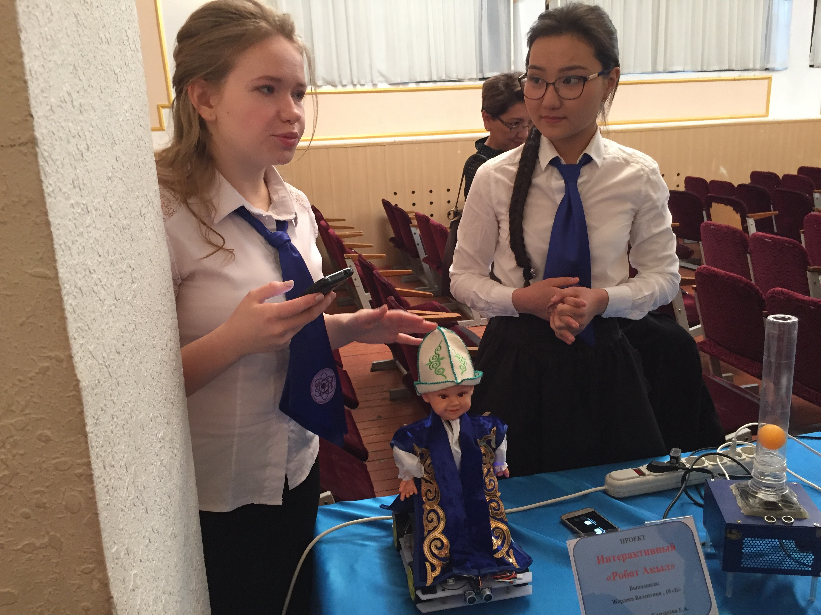 TechWomen Delegation Kyrgyzstan 2017 at Robotics Fair, Physics and Mathematics School‐Lyceum, Bishkek