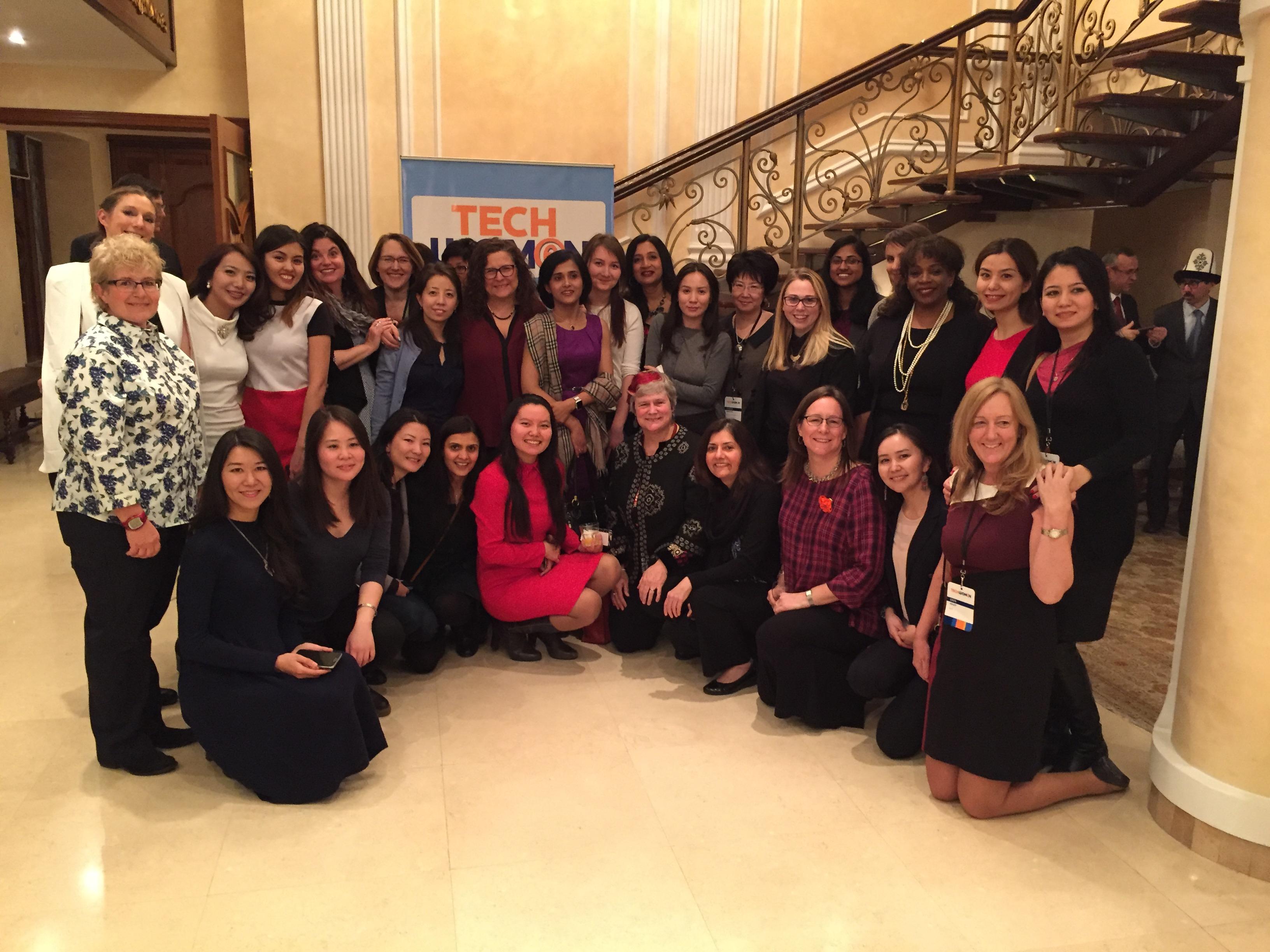 TechWomen Delegation Kyrgyzstan 2017 at US Ambassador Residence Bishkek