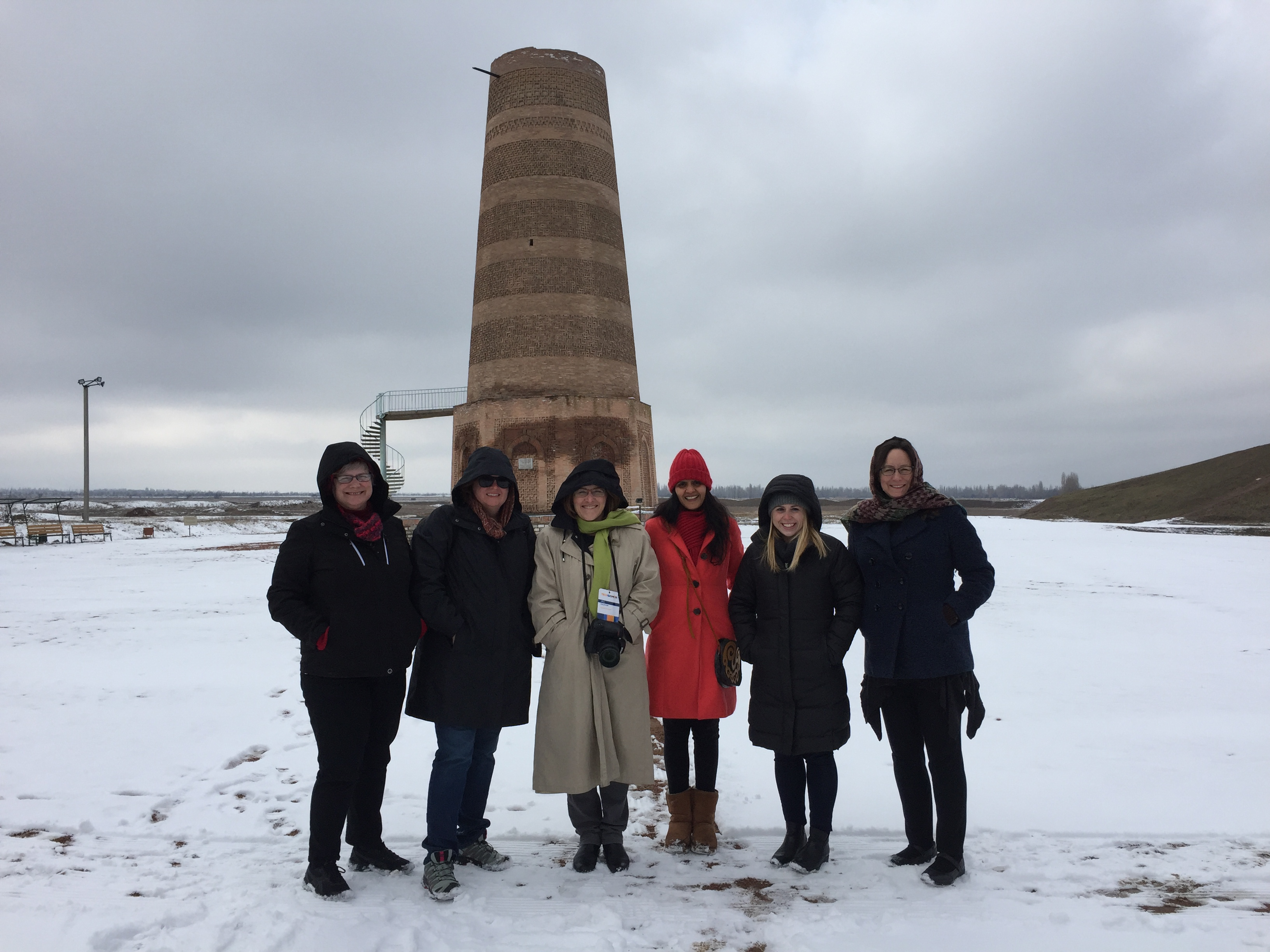 TechWomen Kyrgyzstan Delegation 2017 at Burana Tower