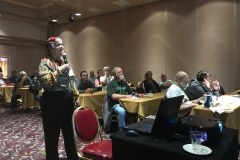 Katy Dickinson telling Story of WP668 - Western Pacific Railroad Historical Convention, May 2017 IMG_0995