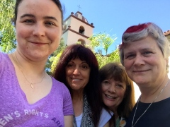 Jessica, Laura, Cathie, Katy on Mission Trip June 2017