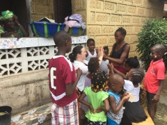 Jessica Dickinson Goodman at Mrs. Ts home, Makeni Sierra Leone 2 July 2017