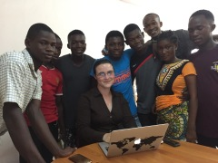 Jessica Dickinson Goodman at Families Without Borders, Makeni, Sierra Leone, July 2017