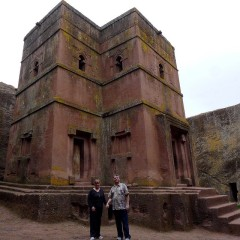 Katy Dickinson and John Plocher 2014 Church of St. George Lalibela Ethipia