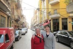 Katy Dickinson and Jessica Dickinson Goodman in Beirut Lebanon 2013