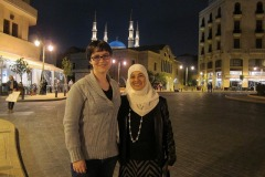 Adla Chatila and Jessica Dickinson Goodman in Saida, Lebanon 2013