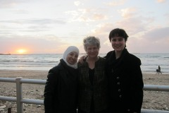 Adla Chatila, Katy Dickinson, Jessica Dickinson Goodman at Tyre, Lebanon 2013