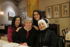 Sukaina Al Nasrawi, Katy Dickinson, Maison Ibrahim, Adla Chatila in Beirut Lebanon 2013