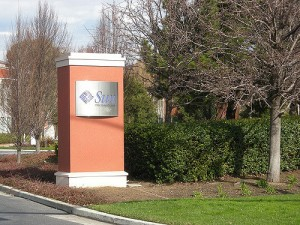 Sun Microsystems gate Menlo Park California in 2010