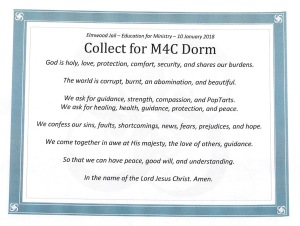 Collect for Elmwood Jail M4C Dorm 10 Jan 2018