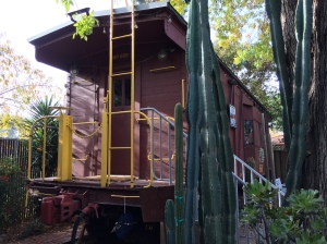 WP668 Railroad Caboose in San Jose California