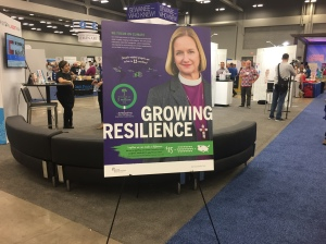 Bishop Mary Gray-Reeves poster at Episcopal General Convention 4 July 2018