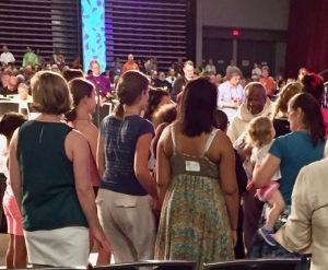 Presiding Bishop Michael Curry with kids at GC79 worship, 5 July 2018, Austin TX
