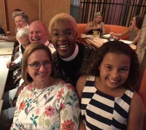 Bishop Mary Gray-Reeves, Canon Stephanie Spellers, and El Camino Real Delegation GC79 on 6 July 2018