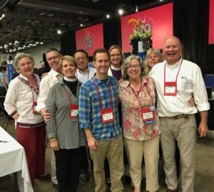 Episcopal Diocese El Camino Real GC79 Delegation with Bishop Mary Gray-Reeves, 4 July 2018, Austin TX