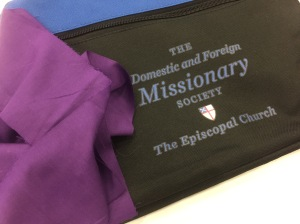 Purple scarf to support Women Bishops at General Convention GC79 on 9 July 2018