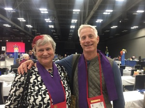 Rev. Rob Keim and Katy Dickinson, House of Deputies, General Convention, GC79 on 9 July 2018