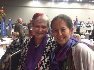 Kathryn Nishibayashi and Katy Dickinson at General Convention gc79 on 9 July 2018