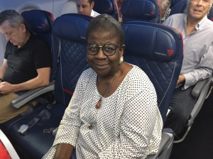 Dr. Catherine Meeks flight home from GC79, 13 July 2018