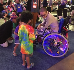 Charis Hill light up wheels Episcopal General Convention GC97 on 9 July 2018