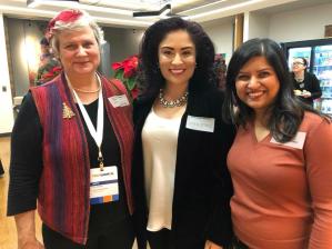 Katy Dickinson, Mercedes Soria, Fatema Kothari, TechWomen October 2017