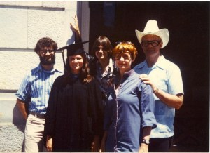 June 1979 Katy UC Berkeley Graduation Eleanor Wade Peter Mark Katy Dickinson