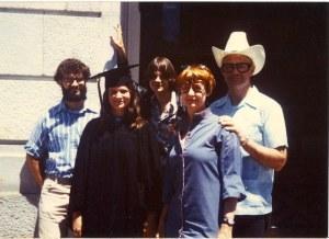 June 1979 Katy UC Berkeley Graduation Eleanor Wade Peter Mark Katy Dickinson