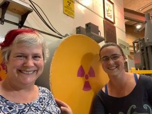 Katy and Jessica - EBR-I, first nuclear power plant, Idaho, July 2019