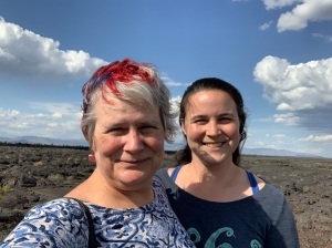 Jessica and Katy - Craters of the Moon National Monument and Preserve, July 2019