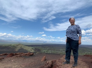 Katy on Inferno Cone - Craters of the Moon National Monument and Preserve, July 2019