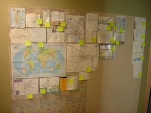 Sun Microsystems Labs map wall 2010