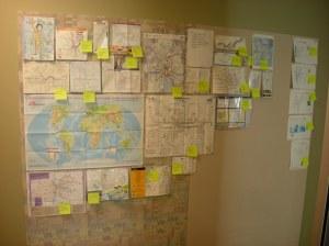 Sun Microsystems Labs map wall 2010