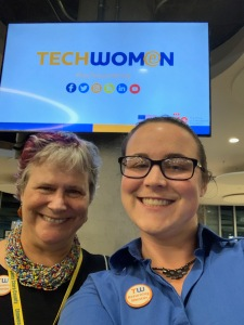 Katy Dickinson and daughter Jessica Dickinson Goodman, TechWomen Mentors, 17 Sep 2019