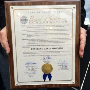 David Robinson CIC Santa Clara Board of Supervisors Award 8 Dec 2015