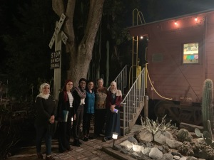 TechWomen Team Algeria with WP668 Caboose 8 Oct 2019