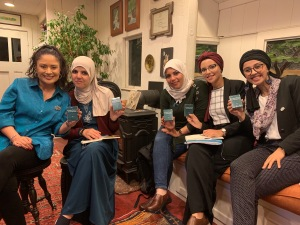 TechWomen Team Algeria in WP668 Caboose 8 Oct 2019