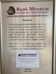 Bade Museum of Biblical Archaeology sign, Berkeley CA 21019