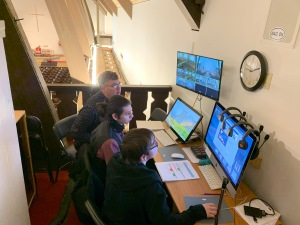 John Plocher and video crew, Consecration of Lucinda Ashby, 11 Jan 2020
