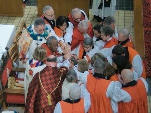 22 bishops at Consecration of Bishop Lucinda Ashby, 11 Jan 2020