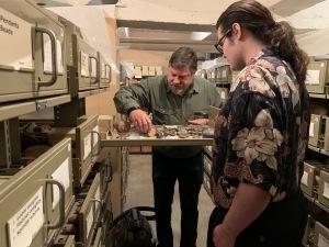 Professor Aaron Brody and Paul D Goodman at Bade Museum, Berkeley CA, 15 Jan 2020