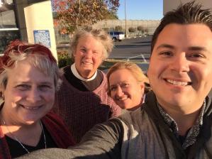 2017 Bishop Mary, Peggy Bryan, Joel Martinez, Katy Dickinson at Elmwood Jail